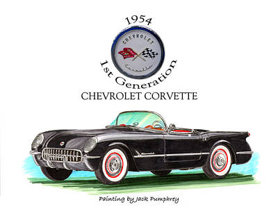Corvette First Generation Poster by Jack Pumphrey