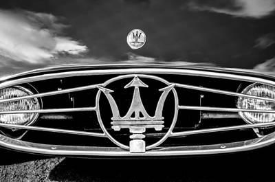1954 Maserati A6 Gcs Grille Emblem -0259bw Poster by Jill Reger
