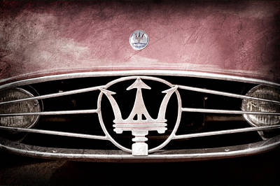 1954 Maserati A6 Gcs Grille Emblem Poster by Jill Reger