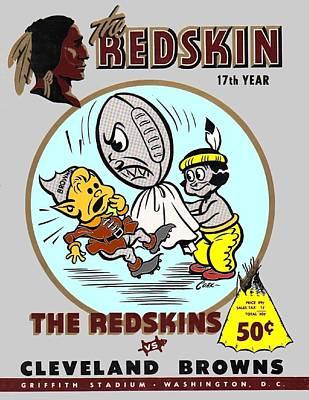 1954 Redskins Browns Program Poster by Paul Van Scott