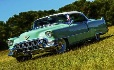 1955 Cadillac Coupe De Ville Poster by motography aka Phil Clark