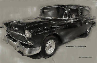 1955 Chev Panel Delivery Poster by Wayne Bonney