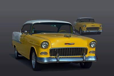 1955 Chevrolet Bel Air Hot Rod Poster