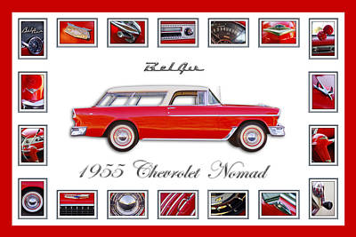 1955 Chevrolet Belair Nomad Art Poster by Jill Reger