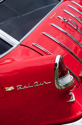 1955 Chevrolet Nomad Wagon Taillight Emblem Poster by Jill Reger