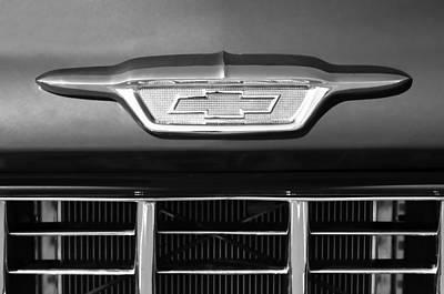 1955 Chevrolet Pickup Truck Emblem Poster by Jill Reger