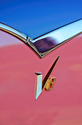 1955 Dodge Royal Lancer V8 Emblem -0639c Poster by Jill Reger
