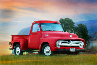1955 Ford F100 Truck Poster by Lori Deiter