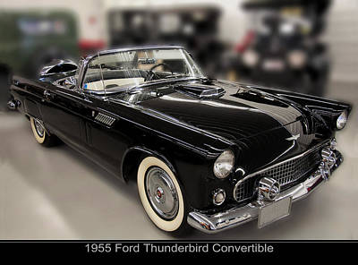 1955 Ford Thunderbird Convertible Poster by Chris Flees