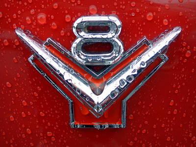 1955 Ford V8 Emblem Poster by Joseph Skompski