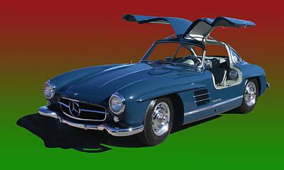 1955 Mercedes Benz 300 S L  Poster by Jack Pumphrey