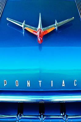 1955 Pontiac Safari Hood Ornament 4 Poster by Jill Reger