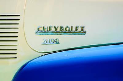 1956 Chevrolet 3100 Pickup Truck Emblem Poster