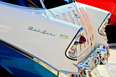 1956 Chevrolet Belair Nomad Taillights Poster by Jill Reger