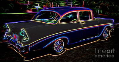 1956 Chevy Bel Air - Classic Car  Poster