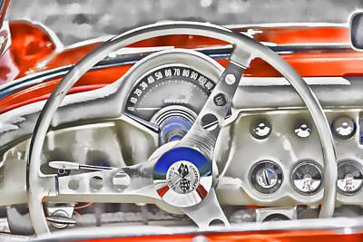 1956 Chevy Corvette Dash Wowc Poster