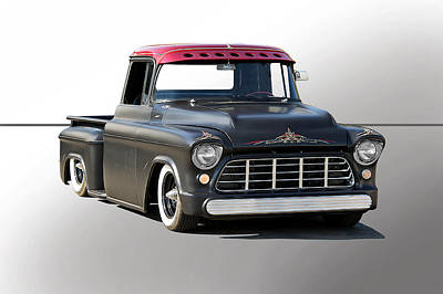 1956 Chevy Lowrider Custom Poster by Dave Koontz