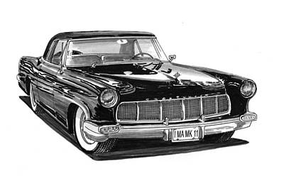 1956 Continental Mk II Poster by Jack Pumphrey