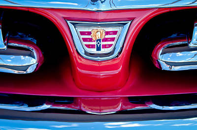 1956 Dodge Royal Lancer Emblem Poster by Jill Reger