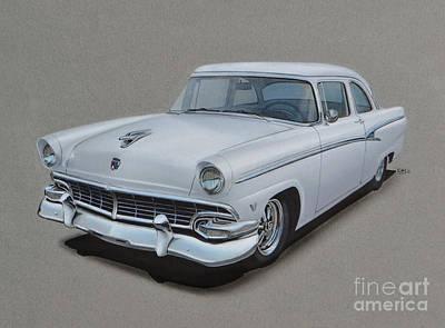 1956 Ford Customline Poster by Paul Kuras