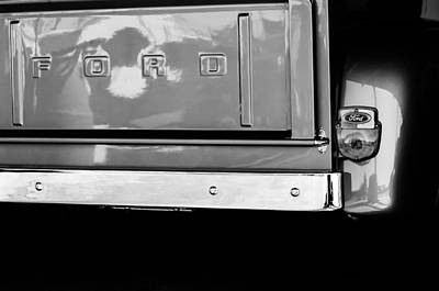 1956 Ford F-100 Truck Taillight Emblem Poster