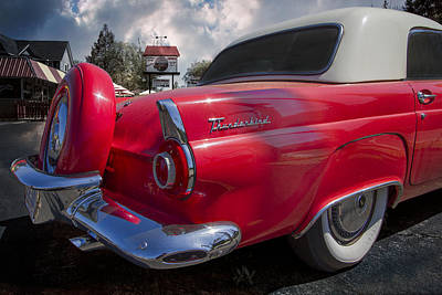 1956 Ford Thunderbird Poster by Debra and Dave Vanderlaan