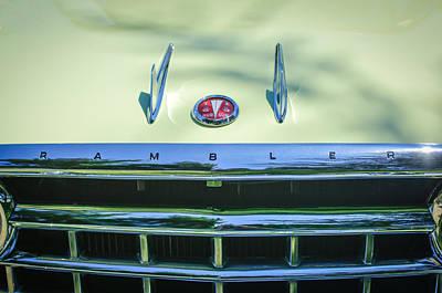1956 Hudson Rambler Station Wagon Hood Ornament - Emblem Poster by Jill Reger