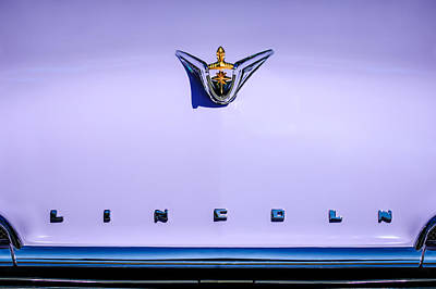 1956 Lincoln Premiere Hood Ornament - Embelm -1110c Poster by Jill Reger