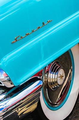 1956 Lincoln Premiere Rear Emblem  - Wheel -0828c Poster by Jill Reger