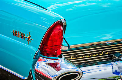 1956 Lincoln Premiere Taillight Emblem -0887c Poster by Jill Reger