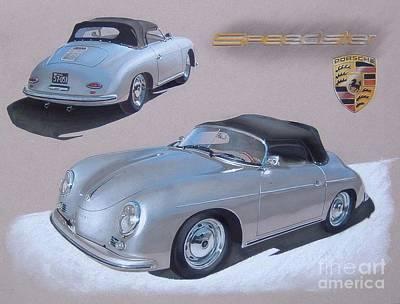 1956 Porsche 356-a Speedster Poster by Paul Kuras