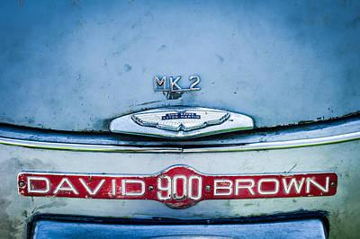 1957 Aston Martin Db2-4 Mark IIi Emblem Poster by Jill Reger