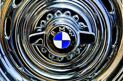 1957 Bmw Wheel Emblem Poster by Jill Reger