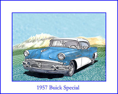 1957 Buick Riviera Special Hard Top Convertible Poster by Jack Pumphrey