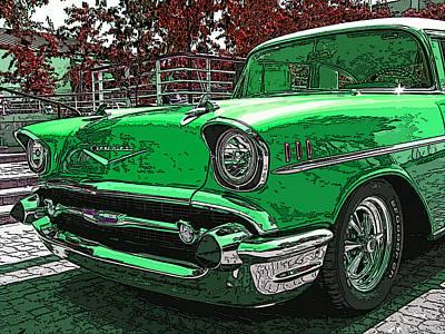 1957 Chevrolet Bel Air Poster by Samuel Sheats