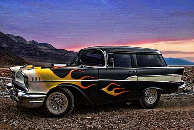 1957 Chevrolet Shorty Wagon Poster by Tim McCullough
