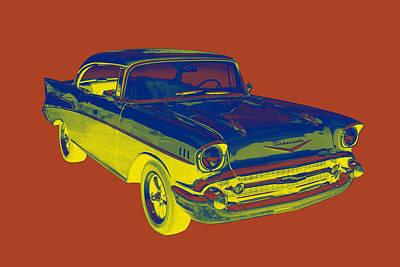 1957 Chevy Bel Air Car Pop Art  Poster