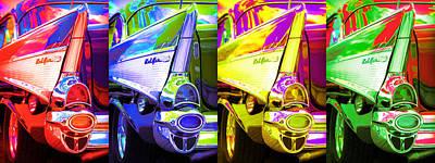 1957 Chevy Bel Air Loud Pop Poster by Gordon Dean II