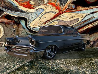 1957 Chevy Bel Air Poster by Louis Ferreira