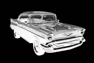 1957 Chevy Belair Car Art Poster