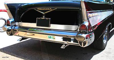 1957 Chevy Rear View Car Art Poster by Lesa Fine