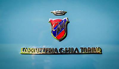 1957 Dual Ghia Sport Emblem Poster by Jill Reger