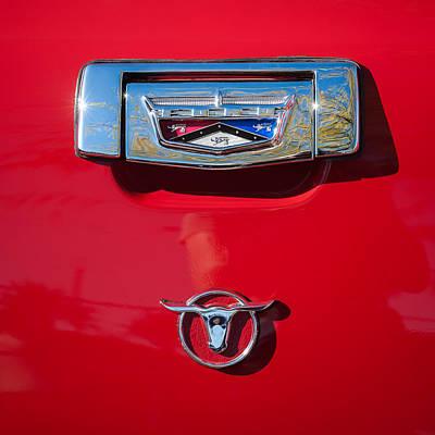 1957 Ford Custom 300 Series Ranchero Emblem Poster by Jill Reger