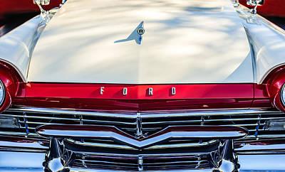 1957 Ford Custom 300 Series Ranchero Grille Emblem Poster by Jill Reger