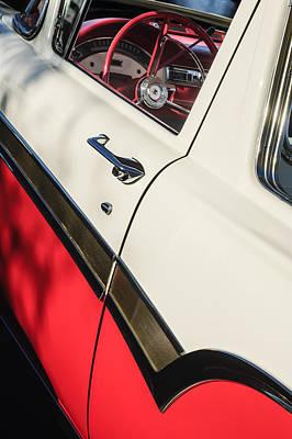 1957 Ford Custom 300 Series Ranchero Steering Wheel Poster by Jill Reger