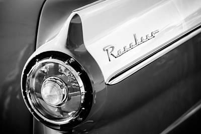 1957 Ford Custom 300 Series Ranchero Taillight Emblem Poster by Jill Reger