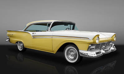 1957 Ford Fairlane 500 Poster by Frank J Benz