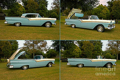 1957 Ford Skyliner Fairlane 500 Retractable Poster by Howard Koby