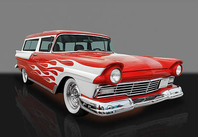 1957 Ford Wagon Poster by Frank J Benz