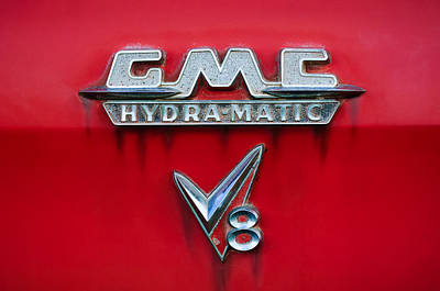 1957 Gmc Hydra-matic V8 Emblem Poster